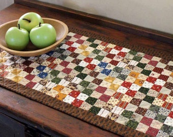 Scrappy 4 Patch Table Runner