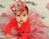 Valentines Christmas Hair Bow red Hairbow Valentines Day Hairbow in red