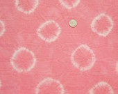 Tie dye fabric Fat Quarter (FQ) Cotton fabric material Light PINK color Circles fabric double sided hippie fabric by White Lily Flowers