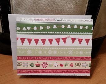 Spanish Christmas Card, Feliz Navidad, Christmas card, greeting card, seasonal card, spanish card, holiday card, handmade card