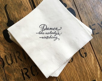 Wedding or Birthday Beverage / Cocktail napkins /  Set of 50