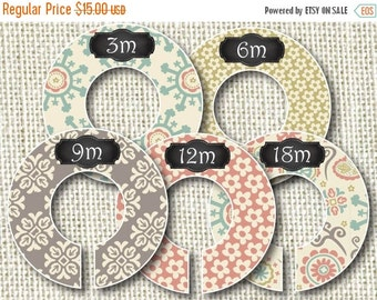 15% OFF SALE Baby Closet Dividers - Groovy Doodles 2