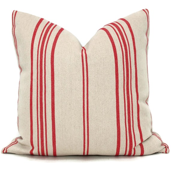 Decorative Pillow Cover French Grain Sack Pillow Cover with