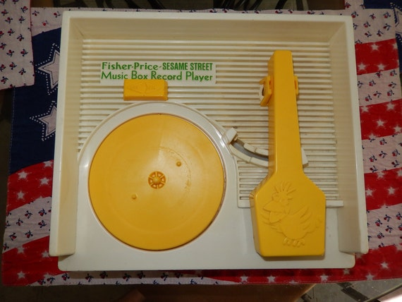 Sesame Street Musical Toys : Fisher price sesame street music box record player wind up