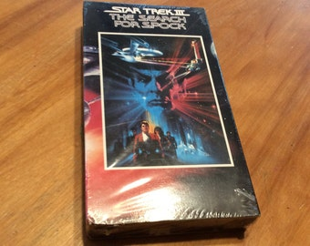 Star Trek III The Search for Spock VHS tape sealed vcr video new in box vintage 1991 by sunandpearl on etsy.