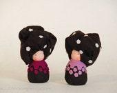 Felt truffle dolls, Felt mushroom ornaments, Creative playthings, Imaginative play, Steiner toy, Tubs and Tubbles