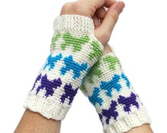 Crochet Pattern ~ Women's Butterfly Mitts ~ Crochet Pattern
