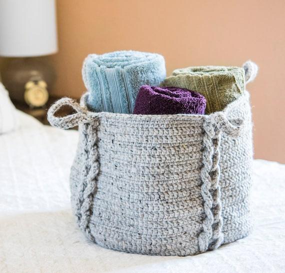 Crochet Pattern Entwined XL Basket Crochet Pattern