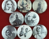 "8 Brand New 1"" ""Scary Stories"" Button Set"