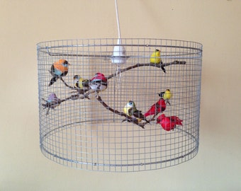 SALE - Kids Lamp Children Room Decor Birdcage Lampshade Bedroom Lamp Light Lampada - Made in US