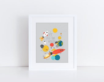 I Spy Something Out of This World, Archival Print