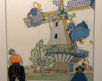 1925 Dutch Windmill with Maidens