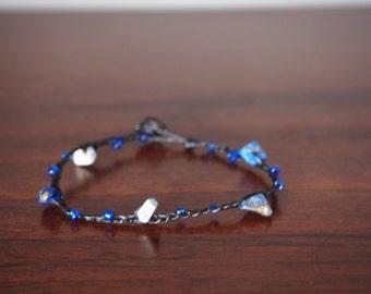 Mother's day gift idea for mom/Gift for her/Lapis lazuli bracelet/handmade Bracelet Wax String Thailand - FAIR TRADE Handmade Jewelry Summer
