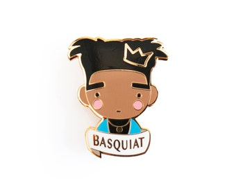 Basquiat Jean-Michel brooch Pin Badge enamel