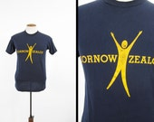Vintage University of Rochester T-shirt 1982 Zornow Zealots Downerwear 5050 - Medium