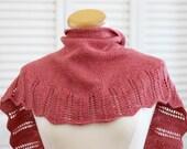 Knitting Pattern Scarf - Ethel Shawl, Coral Wool