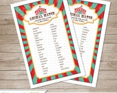 Circus Baby Shower Animal Match Game  - Instant Download