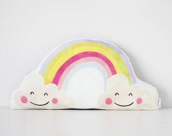 Rainbow & Cloud Cushion