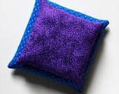 CUSTOM Purple 5x5 and Blue 6x6 Bean Bags (set of 2) Toss Game Large Square BeanBags