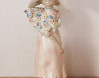 Fine Porcelain CCCC Japan Girl with Flowers Ginka shooting Star