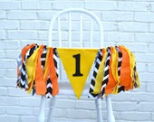 Construction Birthday banner - 1st boy birthday decor - high chair banner- construction 1st birthday - 1st birthday party - boy 1st birthday