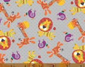 Rumble - Lions and Giraffes Grey by Whistler Studios from Windham Fabrics