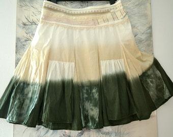 Women's skirt, skirt cotton, summer skirt, elegant ruffles skirt, unique artsy skirt, boho skirt, gypsy, upcycled clothing, recycled skirt