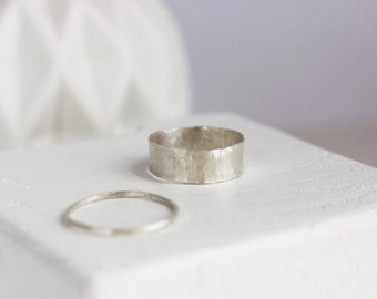 Hammered Sterling Silver Ring (Large)