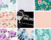 Finley Darling Cute Digital Paper Drawn Floral Clipart Clipboards Printable Planner Personal and Printed Commercial Use