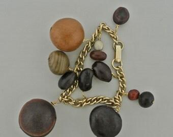 Sea Bean Pod Charm Bracelet.