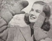 Vintage 1940s Knitting Patterns book Complete Family Knitting Illustrated