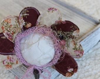 New Born Flower Bonnet