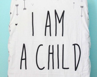 I Am A Child Of God Baby Crib Sheet, Arrows Tribal, Scripture, Bible verse, Life verse, Girl or Boy, Unisex Nursery Modern Decor Psalm 139