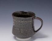 Wheel Thrown Porcelain Mug with Yellow Oil Spot / Tenmoku Glaze by HsinChuen Lin 林新春