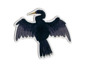 Anhinga Bird Magnet / Nature Art / Refrigerator Magnet / Office Magnet / Party Favor / Small Gift