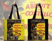 Berger Picard Art Tote Bag - Abbott and Costello Meet Frankenstein Movie Poster NEW Collection by Nobility Dogs