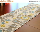 SALE Table Runner- Summerland Suzani Citrine Dining Table Runner- Premier Prints- Weddings Holidays Home Decor- Choose Size- Table Topper