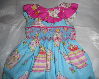 Size 12 Months, Handsmocked  Tea Party Bubble