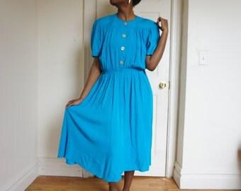 Vintage True Blue Dress