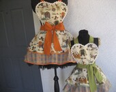 Happy Thanksgiving Mother/Daughter  Hostess Aprons