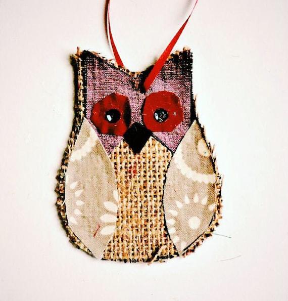Fabric crafts owl crafts burlap owl craft kit for Burlap fabric projects