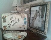 Wedding Card Holder-VintageTrain Case