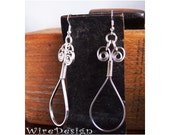 New Loop-design - Single Loop flat silver earrings