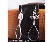 New Loop-design - Single Loop flat silver earrings