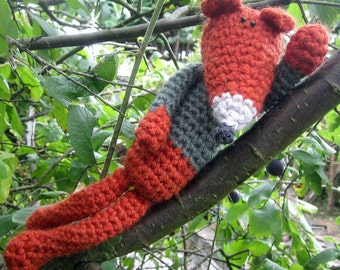 Rusty - a hand crocheted fox!