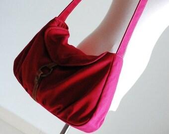 Back To School SALE - 30% Fortuner-S in Cherry Red / Purse / Laptop / Shoulder / Messenger Bag / Handbag / Diaper bag/Diaper Bag/ School Bag