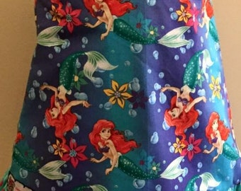 Girls Toddler Disney Ariel Little Mermaid Pinadore and ruffle bloomer set 12 18 24 2T 3T 4T 5T