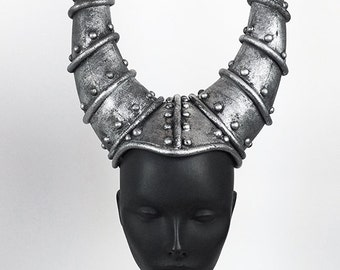 Silver Horned Headpiece