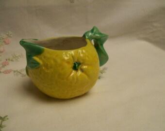 Vintage Lemon Creamer Majolica
