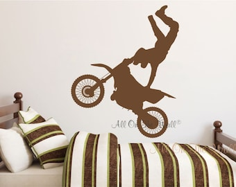Dirt Bike Wall Decal | Etsy